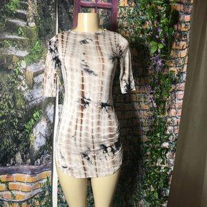 Black Head mini Tie-Dye print t-shirt dress XS/S